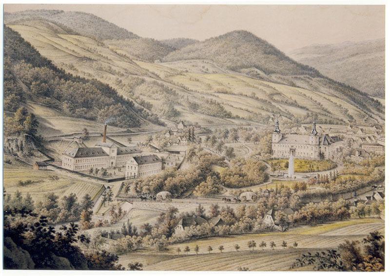 Loučná v60. letech 19. století