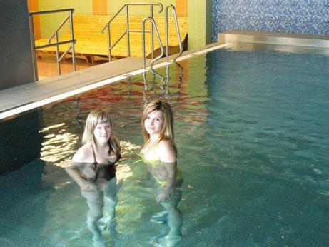 Wellness a bazén hotelu Dlouhé stráně